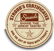 Share The Great Taste of Barbeque With a Stroud's Gift Certificates